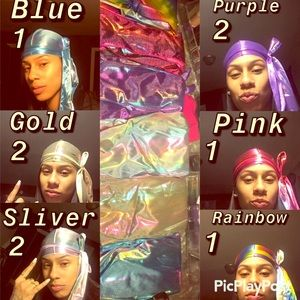 Metallic colored Durags. 8 piece lot